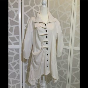 Lindi button front tunic with trench details